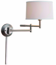 Kenroy Home 20942BS - Theta Wall Swing Arm Lamp