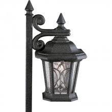 Progress P5276-71 - One Light Gilded Iron Water Seeded/clear Bevel Glass Path Light