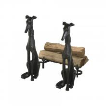 Cyan Designs 01855 - Dog Andirons 2pc. Set