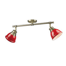 Golden 3602-2SF AB-RD - Semi-Flush - Track Light