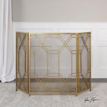 Uttermost 18707 - Uttermost Rosen Gold Fireplace Screen