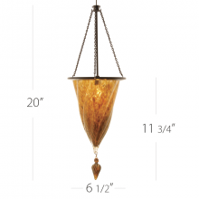 WAC US QP-935LED-GL/DB - ROCOCO PENDANT WITH QUICK CONNECT