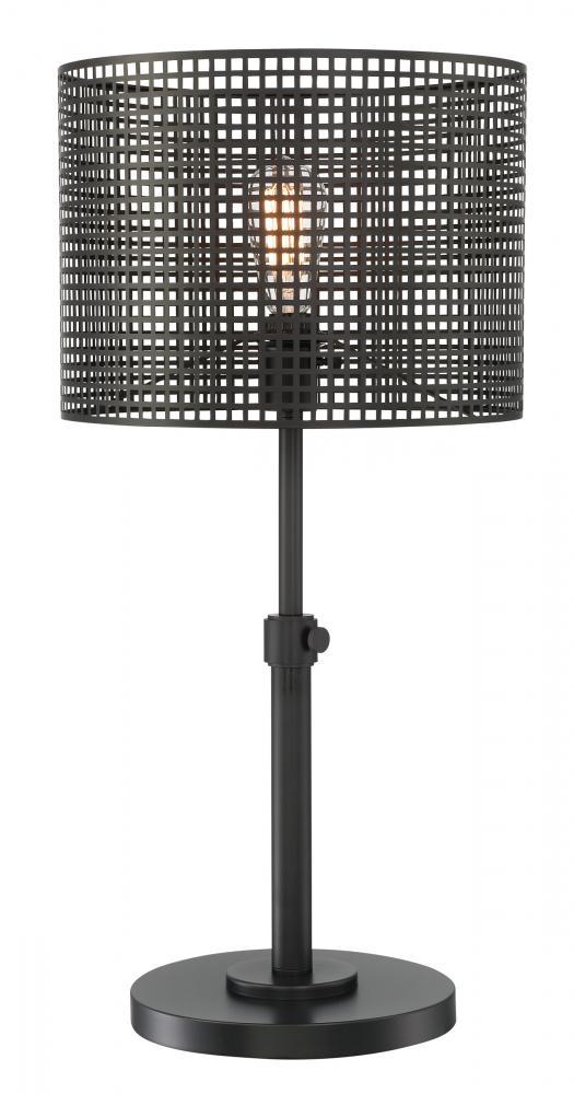 Table Lamp Blackmesh Metal Shade E27 Vintage Bulb 60w Ls 23017