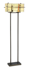 Lite Source Inc. C61396 - Floor Lamp - Dark Bronze/tiffany Shade, E27 A 60wx2