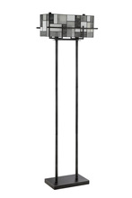 Lite Source Inc. C61397 - Floor Lamp - Aged Gunmetal/tiffany Shade, E27 Type A 60wx2
