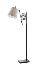 Lite Source Inc. LS-83145 - Extendable Floor Lamp, Bn/black/l.grey Fabric Shade, A 60w