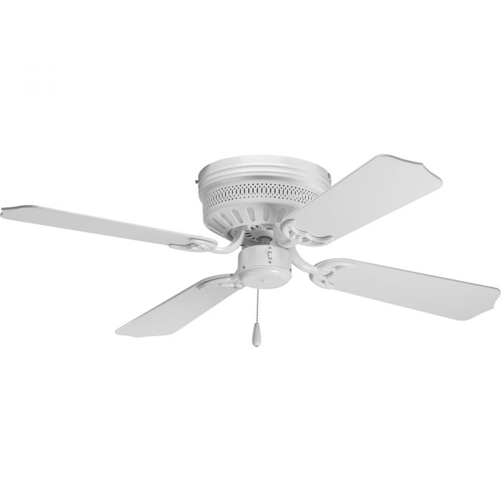 White Hugger Ceiling Fan