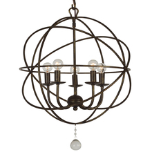 Crystorama 9224-EB - Crystorama Solaris 5 Light English Bronze Mini Chandelier