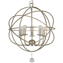 Crystorama 9224-OS - Crystorama Solaris 5 Light Olde Silver Mini Chandelier