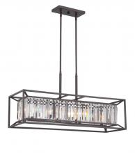Designers Fountain 87438-VB - Linares 4 Light Linear Chandelier