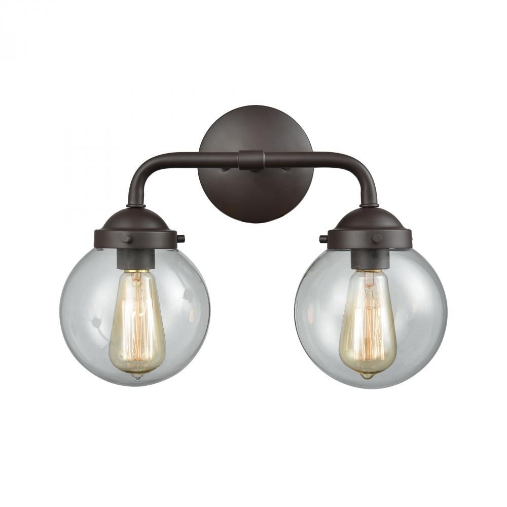 Elk Lighting CN129321 Beckett 3-Light Oil Rubbed Bronze with Clear Glass Chandelier