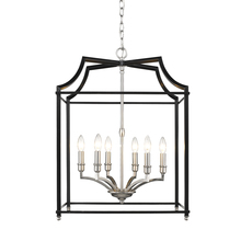 Golden 8401-6P PW-BLK - 6 Light Pendant