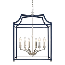 Golden 8401-6P PW-NVY - 6 Light Pendant