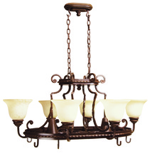Jeremiah 8138AG8 - Riata 8 Light Pot Rack in Aged Bronze Textured