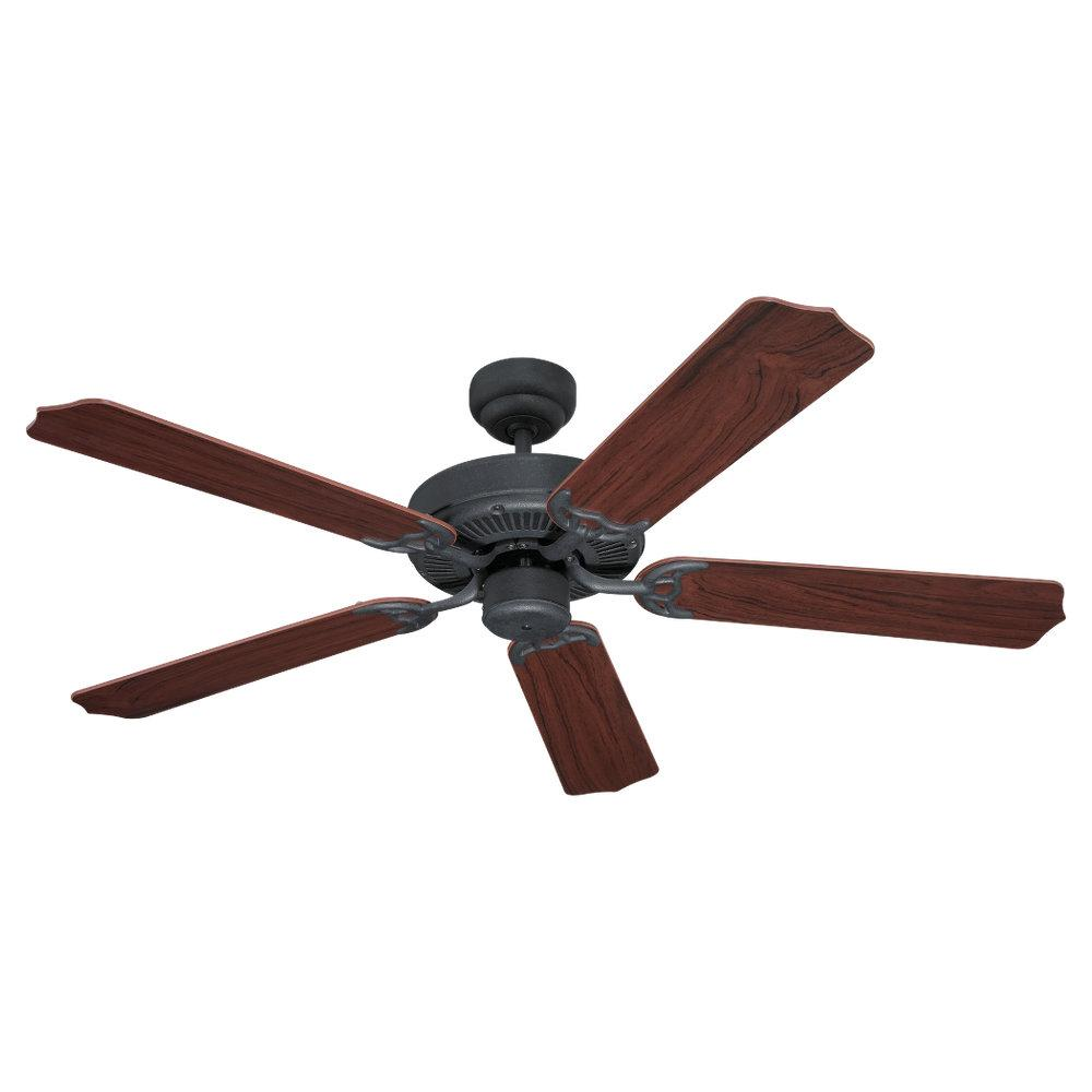 Quality Max & Energy Star 52 Inch Ceiling Fan in Weathered Iron Finish