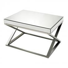 Sterling Industries 114-41 - Klein-Mirror And Stainless Steel Coffee Table