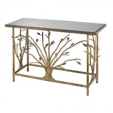 Sterling Industries 114-95 - Gold Leafed Metal Branch Console Table With Antique Mirrored Top