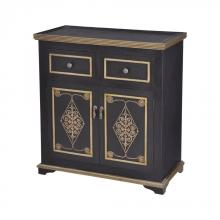 Sterling Industries 7011-405 - Medecci Chest In Black And Gold
