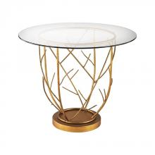 Dimond 1114-205 - Thicket Entry Table In Gold Leaf And Clear Glass
