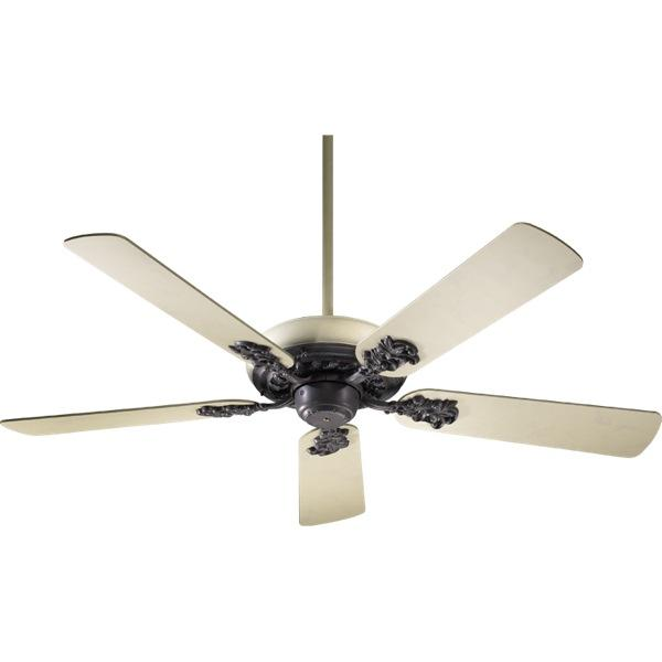 French white cobblestone ceiling fan